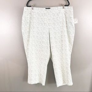 Cynthia Rowley NWT Cropped Pull on Pant Size 22